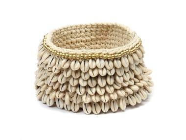 Cotton basket GOLD & COWRIE | Basket
