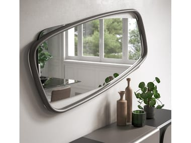 Rectangular wall-mounted mirror GOLDEN WOOD