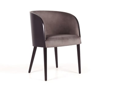 Upholstered fabric chair with armrests GOMO MAPLE MAD