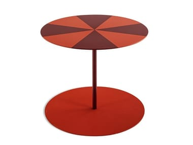 Detachable round plate coffee table GONG CIRCUS