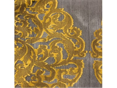 Damask silk fabric for curtains GOTIC SILK ORGANZA