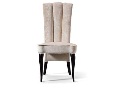 Upholstered high-back velvet chair GRAN DUCA | High-back chair