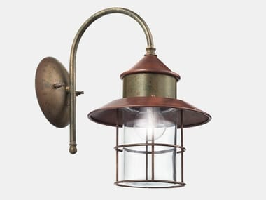 Direct light metal outdoor wall lamp GRANAIO 246.06.ORT