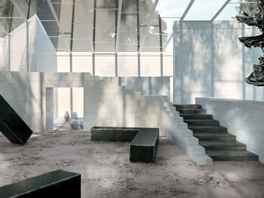 Pavimento/rivestimento in gres porcellanato per interni ed esterni GRAND CARPET | Smoke D