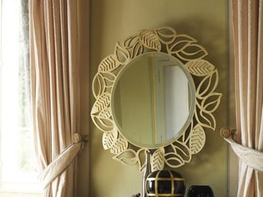 Round wall-mounted framed mirror GRAND ÉTOILE | Mirror