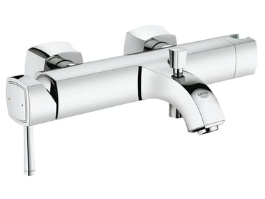 Wall-mounted single handle bathtub mixer GRANDERA™ | 2 hole bathtub mixer