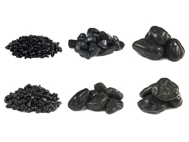 Natural stone decorative pebbles PEBBLE EBONY BLACK