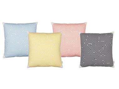 Cuscino quadrato a motivi geometrici GRAPHIC PRINT MAZE