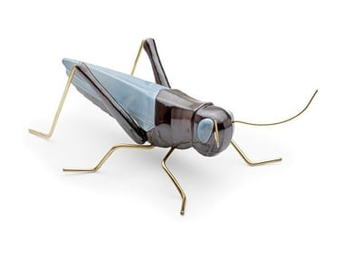 Ceramic decorative object GRASSHOPPER BLUE