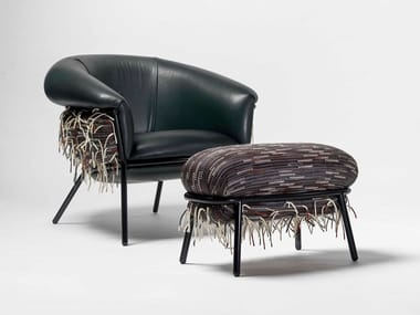 Contemporary style upholstered armchair with armrests GRASSO | Fabric armchair