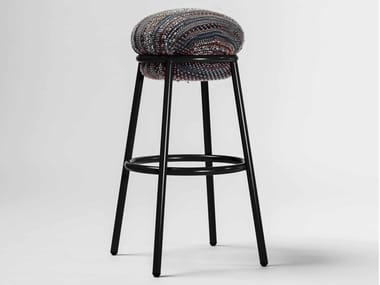 High upholstered fabric stool GRASSO | Fabric stool