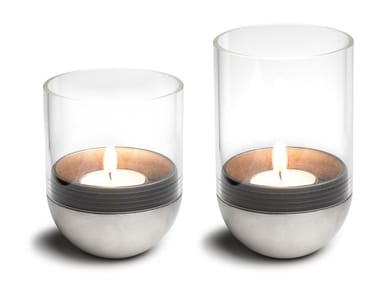 Glass and metal table Candle Holders GRAVITY CANDLE