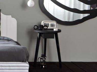 Oak coffee table / bedside table GERVASONI - GRAY 45 Black