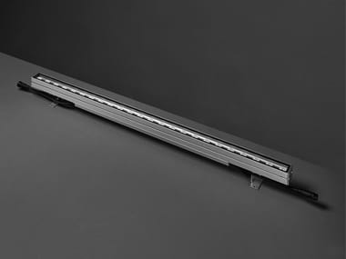 Wall-mounted extruded aluminium Outdoor linear profile GRAZER