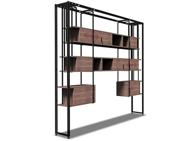 Wooden bookcase GREN | Bookcase