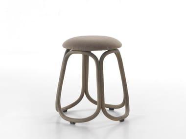 Low rattan garden stool GRES | Low stool