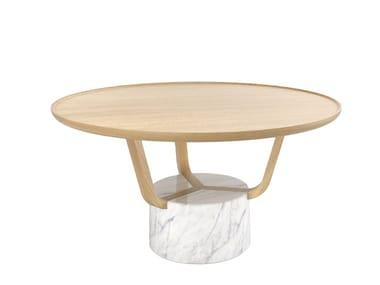 Tavolino rotondo in legno GRETEL | Tavolino