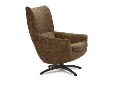Swivel armchair with 4-spoke base GRIFFON | Armchair