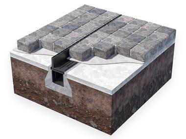 Elemento e canale di drenaggio in PVC GRIGLIA A FESSURA INVISIBILE