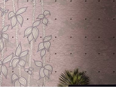Wallpaper with floral pattern GROOMING