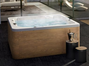 Square hydromassage hot tub 6-seats GROUND