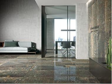 Porcelain wall/floor tiles with metal effect GRUNGE