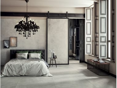 Laminated stoneware wall/floor tiles with concrete effect GRUNGE - CLOUD