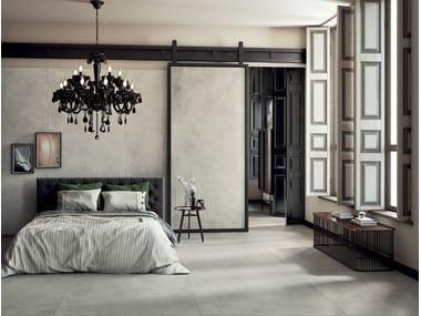 Revestimento de pisos/paredes de grés laminado com efeito concreto GRUNGE - CLOUD