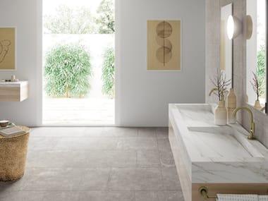 Bodenbelag aus Porzellan mit Beton-Effekt für Innen/Außen GRUNGE FLOOR