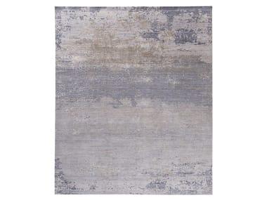 Handmade custom rug GRUNGE NEW GREY