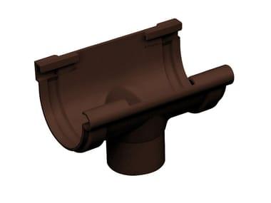 Giunto con scarico bi-system per canale di gronda in PVC GSN116M