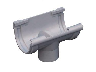 Giunto con scarico bi-system per canale di gronda in PVC GSN116N