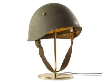 Lampada da tavolo orientabile in ottone e metallo GUGLIELMO