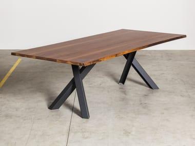 Rectangular walnut table GUSTAVE   Walnut table