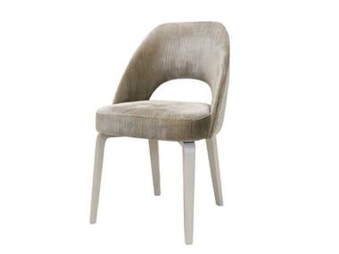 Upholstered open back velvet chair GYM