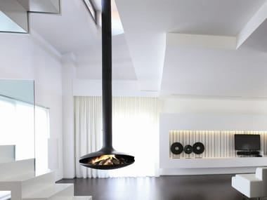 Open central hanging fireplace GYROFOCUS