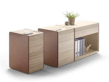 Modular wooden office drawer unit with lock HELDU | Office drawer unit