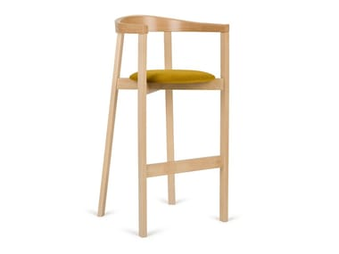 High beech stool with integrated cushion H-UXI-2920