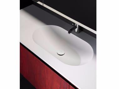 Lavabo de Solid Surface con encimera H10 | Lavabo con encimera