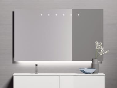 Wall-mounted bathroom mirror with integrated lighting H24 | Bathroom mirror