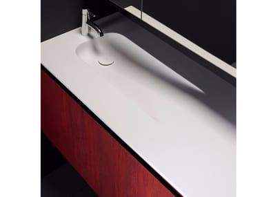 Lavabo de Solid Surface con encimera H7 | Lavabo con encimera