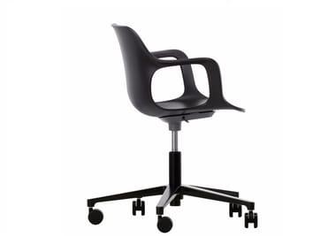 Sedia ufficio operativa ad altezza regolabile con braccioli HAL ARMCHAIR STUDIO