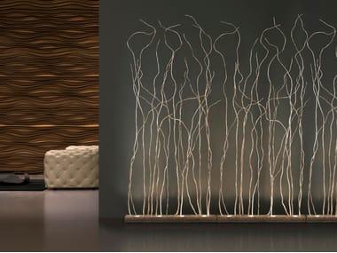 Lampada da terra alogena in bronzo WIND | Lampada da terra alogena