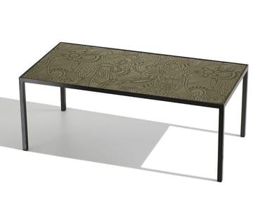 Tavolino rettangolare da salotto HARRY GLASS | Tavolino rettangolare