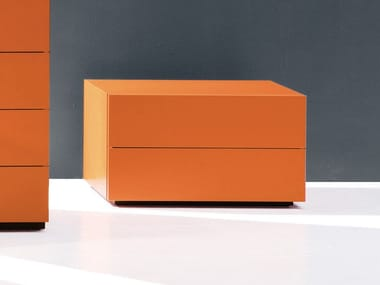 Rectangular bedside table with drawers HARU | 75 cm