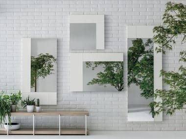 Rectangular wall-mounted mirror HASHTAG