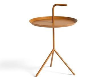 Round steel side table HAY - DLM TOFFEE