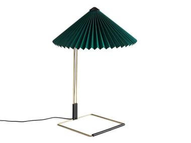 Lampada da tavolo a LED in cotone e ottone HAY - MATIN L GREEN