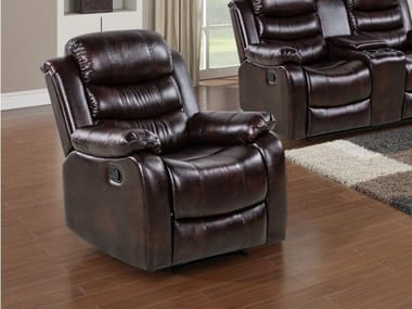 Leather armchair with armrests HD-1887 | Armchair
