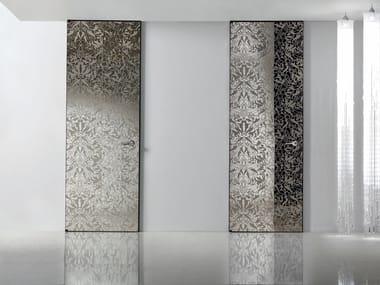 Hinged mirrored glass door HEADLINE | Glass door